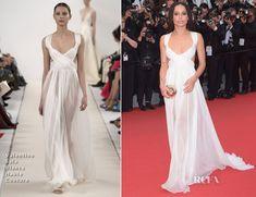 Zoe Kravitz In Valentino Sala Bianca Haute Couture -  'Mad Max Fury Road' Cannes Film Festival Premiere