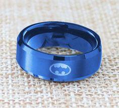 Batman Titanium Stainless Steel Arkham Ring