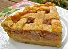 Taking a trip home for a slice of Cousin Alvine's Rhubarb Cream Pie.  My Own Sweet Thyme: Rhubarb Cream Pie
