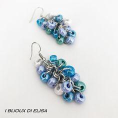 New colorful creations in my #etsyshop, discover them!  #earrings #beads #lightblue #white #indigo #green #bianco #azzurro #indaco #verde #orecchini #handmade #etsy #etsyseller #jewellery #jewelry #bijoux #ibijouxdielisa #handcrafted