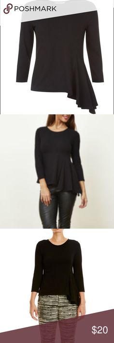 People Tree Daria Drape (black top), size 8 Black People Tree Daria Drape Top, size 8, organic cotton; ethical fashion, new without tags (never worn) People Tree Tops Tees - Long Sleeve