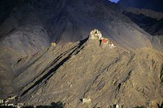 This photo from Jammu and Kashmir, North is titled 'Sankar gompa - Leh'. Tibet, Leh, Travel Posters, Ladakh India, Beautiful Places, Tours, Mountains, Landscape, Buddhism