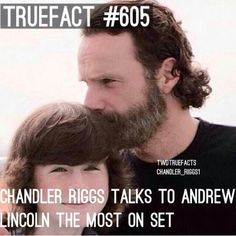 The Walking Dead Fact - Chandler Riggs with Andrew Lincoln