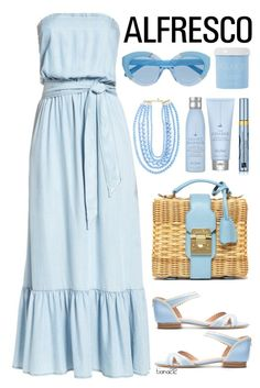 """Alfresco"" by tiana212 ❤ liked on Polyvore featuring BB Dakota, Mark Cross, Sarah Chofakian, Karen Walker, BaubleBar, Estée Lauder and Drybar"