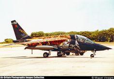Aviones Caza        Dassault/Dornier Alpha Jet   Tipo Avión de ataque ligero y entrenador avanzado Fabricantes:   Francia -- Dassault-Breguet                         Alemania --Dornier Primer vuelo 26 de octubre de 1973 Generación  3º  Usuarios principales  Ejército del Aire Francés  Alemania Luftwaffe   Real Fuerza Aérea Tailandesa   Fuerza Aérea Portuguesa Producción 1973-1984 N.º construidos 480