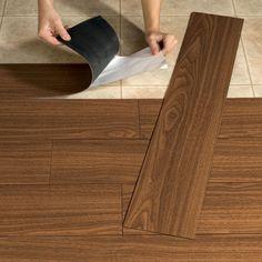 Peel-And-Stick Wood-Look Plank Flooring | Peel & Stick Flooring | Brylanehome