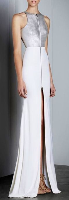 Alex Perry white and silver gown