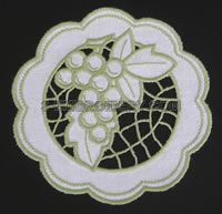 cutwork embroidery   Grape cutwork lace - free machine embroidery design
