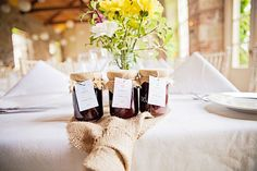 jam jar wedding favours | Ciaran and Louise's perfectly pastel Borris House wedding by Katie Kav | www.onefabday.com