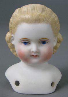 German bisque doll head by Alt, Beck & Gottschalk, 1860-1870.