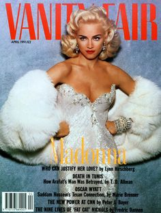 One of the stars who has been influenced the most by Marilyn Monroe is Madonna — she struck a Marilyn-esque pose for the April 1991 cover of Vanity Fair Laura Vandervoort, Kristin Kreuk, Rihanna, Beyonce, Bob Mackie, Winona Ryder, Iggy Azalea, Alexandra Daddario, Christina Hendricks