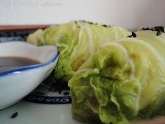 Rollitos de Col China al Vapor Col China, Cabbage, Vegetables, Food, Wraps, Easy Recipes, Essen, Cabbages, Vegetable Recipes