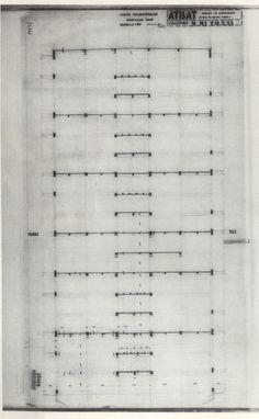Sección Transversal. Pórtico Par Le Corbusier, Sheet Music, Architecture, Blue Prints, Music Sheets