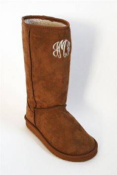 Snowy Days Monogrammed Boot - Camel at Bluetique Cheap Chic
