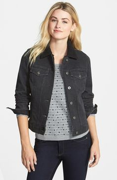 Two by Vince Camuto Faux Shearling Collar Denim Jacket available at #Nordstrom