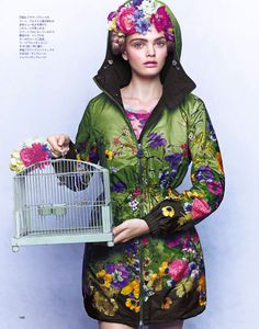 nice  Marthe Wiggers by Junji Hata for Spur February 2014  [Editorial]