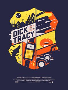 Dick Tracy poster. I'm not even going to call this minimalist. By Alex Griendling