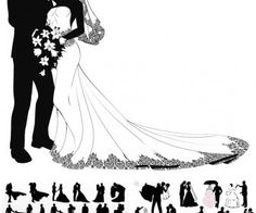 41 Super Ideas for wedding couple silhouette heart