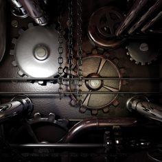 Gears machine steampunk #iPad #Wallpaper