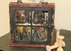 The Creative Studio / How to Make A Mixed Media Shadowbox #canvascorpbrands #ccb #ccbcrew #7gypsies #tatteredangels #assemblage