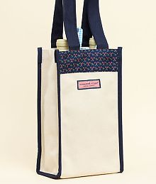 Wine bottle carrier. Vineyard Vines.
