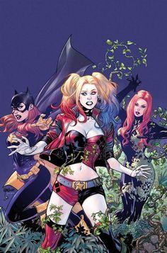 """Batgirl, Harley Quinn, and Poison Ivy by Emanuela Lupacchino "" Dc Comics, Comics Girls, Cosplay Gatúbela, Catwoman Cosplay, Gotham City, Dc Rebirth, Geeks, Joker Y Harley Quinn, Hq Marvel"