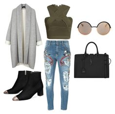"""""""Be the topic."""" by edward-quinde on Polyvore featuring Jonathan Simkhai, MARCOBOLOGNA, Yves Saint Laurent, Marc by Marc Jacobs, women's clothing, women's fashion, women, female, woman and misses"""