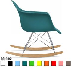 Amazon.com: 2xhome - White - Eames Style Molded Modern Plastic Armchair - Contemporary Accent Retro Rocker Chrome Steel Eiffel Base - Ash Wood Rockers - Rocking Mid Century Style Lounge Cradle Arm Chair - Nursery Living Room - Matte Finish: Kitchen & Dining