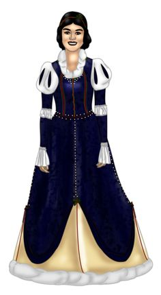 Snow White Christmas Gown by ~FalseDisposition on deviantART