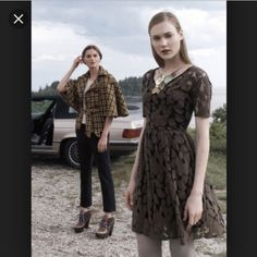 Anthropologie Brown Unconditional Osier Dress Euc