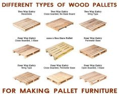 Verschil tussen diverse soorten pallets