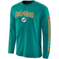 Miami Dolphins NFL Pro Line Red Zone Long Sleeve T-Shirt - Aqua cb98f493b