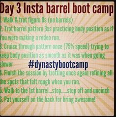"Fallon Taylor Barrel Boot Camp- Day 3 - replace ""barrels"" with fences"