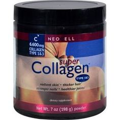 $10.85 - neocell-super-collagen-type-1-and-3-powder-6600-mg-7-oz - COLLAGEN is a complex structural protein that maintains strength and flexibility throughout the body.
