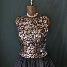 Patsy Cline style: Vintage Dress 1960's Bewitched Black Chiffon and by prettyinprague, $98.00