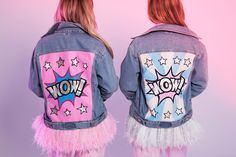 Handpainted jeans jackets in POP ART Style - Musthave! DARIA Y MARIA brand is…