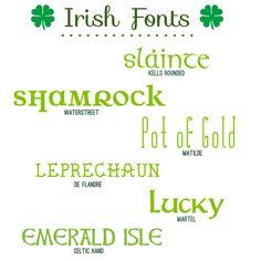 Fabulous Font Finds: Irish Fonts