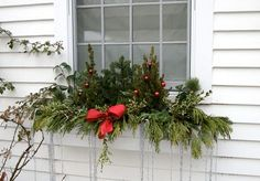 Winter Window Boxes
