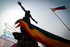 Student protesters raise awareness of hate crimes against LGBT. University of the Philippines, Manila.