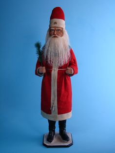 24,8 inch Paper mache *German Santa* candy container by Paul Turner studio
