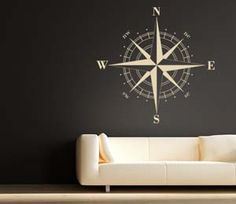 For the hallway wall. Thiis nautical compass wall decal will give you a truly centered feeling in your own home. Buy It $34.95 via Etsy.com