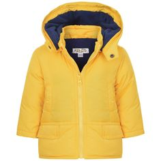 Kenzo Baby Boys Yellow Down Padded Quilted Coat