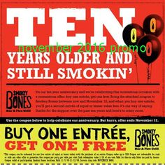 Smokey Bones Coupons Ends of Coupon Promo Codes JUNE 2020 ! But Bones open Bones, in grill Smokey not it good but good one's it who fo. Store Coupons, Grocery Coupons, Free Printable Coupons, Free Printables, Smokey Bones, Dollar General Couponing, Coupons For Boyfriend, Fire Grill, Grill Restaurant