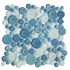 Bubble 0 63 X Gl Mosaic Tile In Ocean