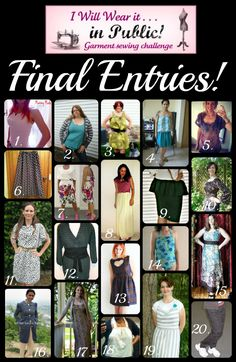 Ricochet and Away!: Vote for your favorite garment!