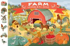 Clip art - Farm by Kopirin on @Graphicsauthor
