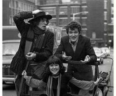 The Fourth Doctor, Tom Baker, with Ian Marter (Harry Sullivan) and Elisabeth Sladen (Sarah Jane Smith).