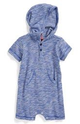 Tea Collection Stripe Hooded Romper (Baby Boys)