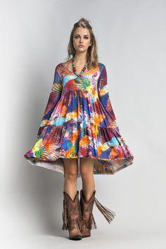 Vestido Estampado - Novidades