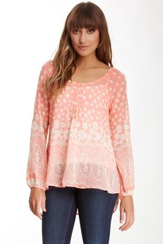 Sheer Floral Paisley Print Top on HauteLook